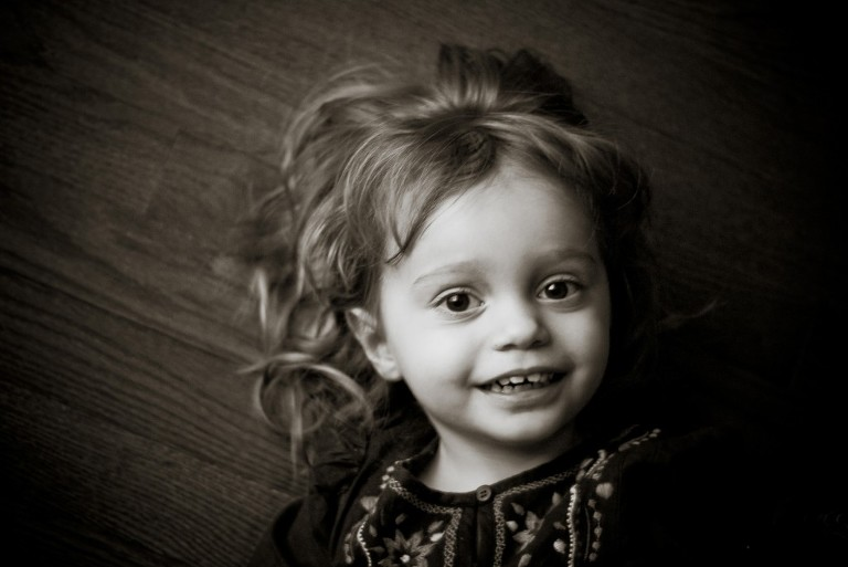 Child Portrait Photography Black and White Picture