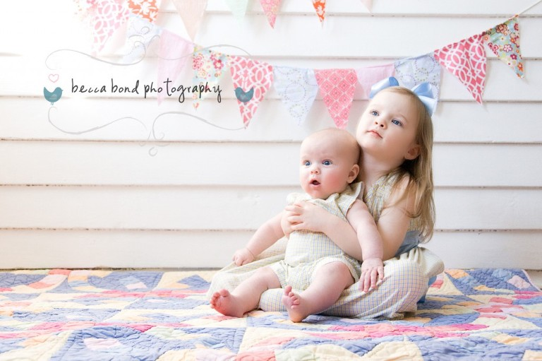 brother and sister portrait by child portrait photographer in Charlotte NC