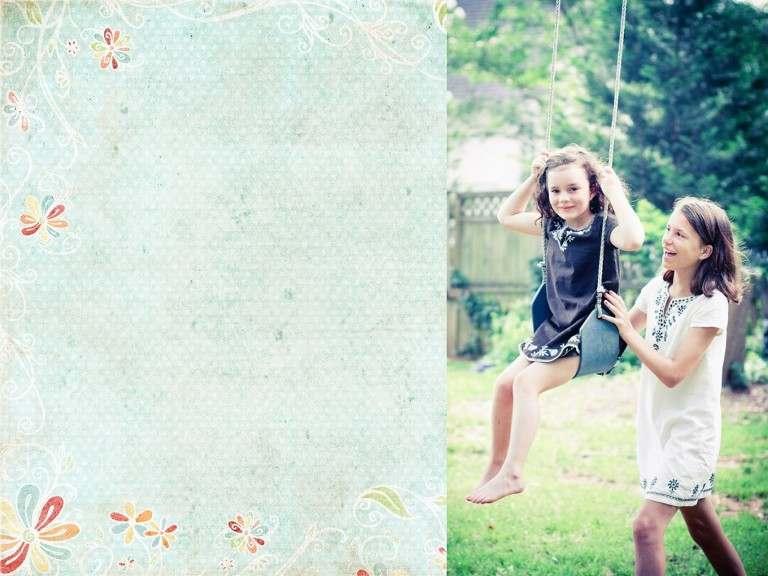 children's portrait on swing in Dilworth NC