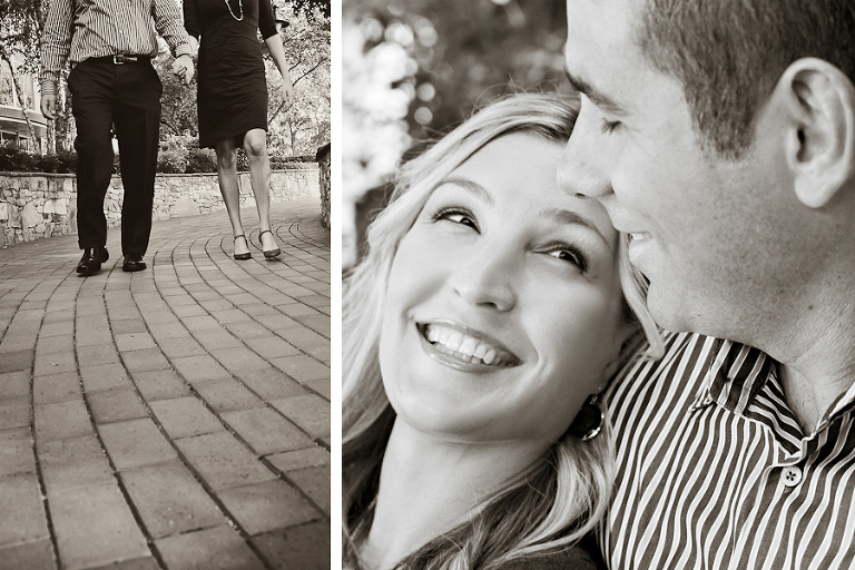 engagement duo bw