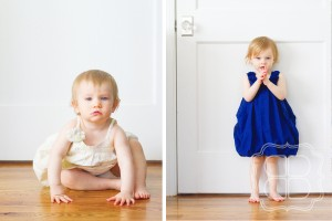 Charlotte family portrait of two children by vintage door