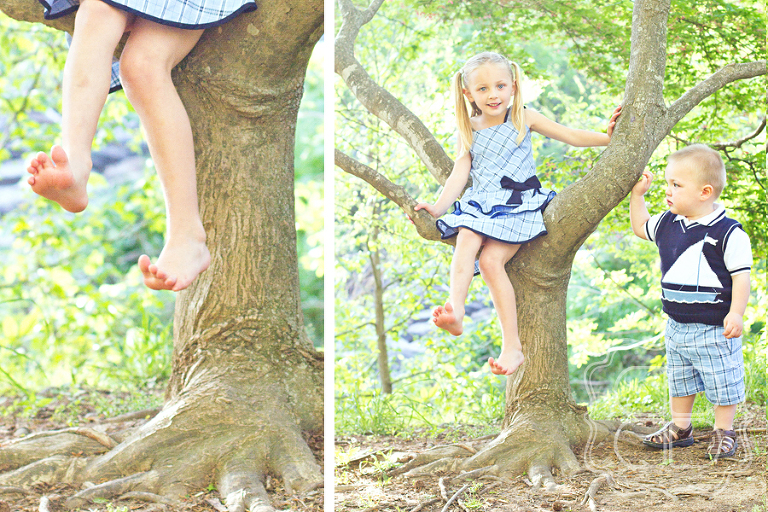 Charlotte children play in freedom park, photographed by lifestyle portrait photographer Becca Bond.