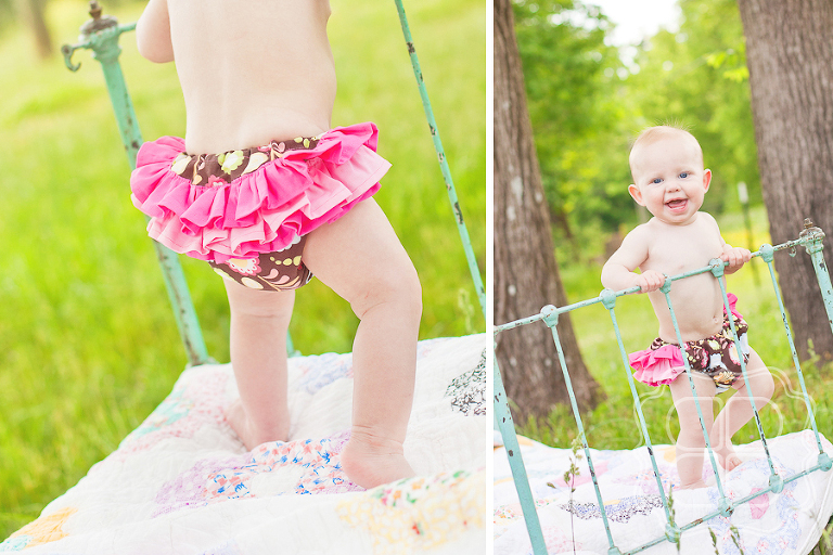 Charlotte Baby photographer's picture with ruffle bottom bloomers