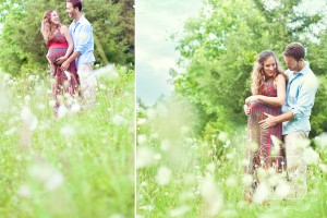 Charlotte couple's maternity photo session with Becca Bond Photography