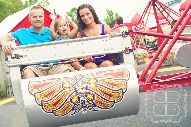 family rides the scrambler