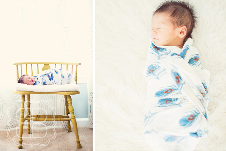 Mod newborn portrait by Charlotte NC professional photographer