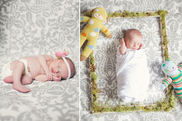 Whimsical photo of a Charlotte newborn baby