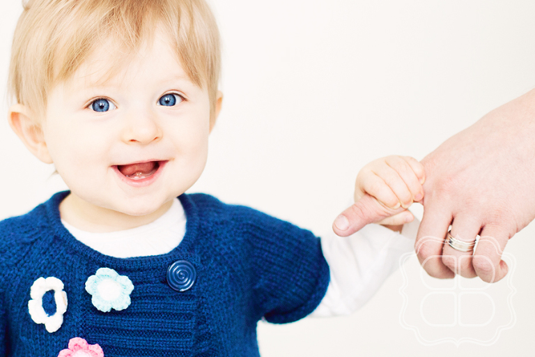 picture of a happy Charlotte baby in photo studio