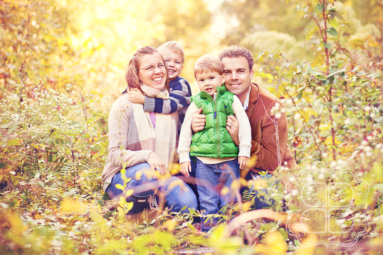 Family Portrait at overgrown railroad tracks