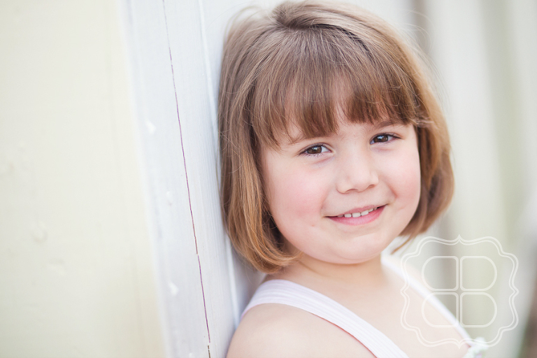 Great lighting on a child's headshot