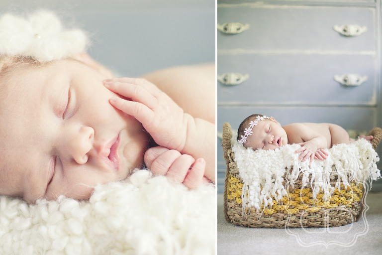Soft and vintage newborn baby photo