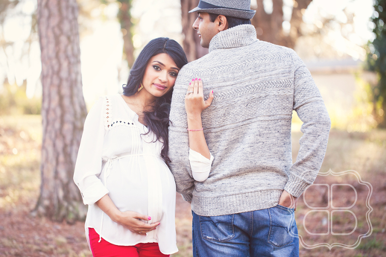 Beautiful couple await Baby