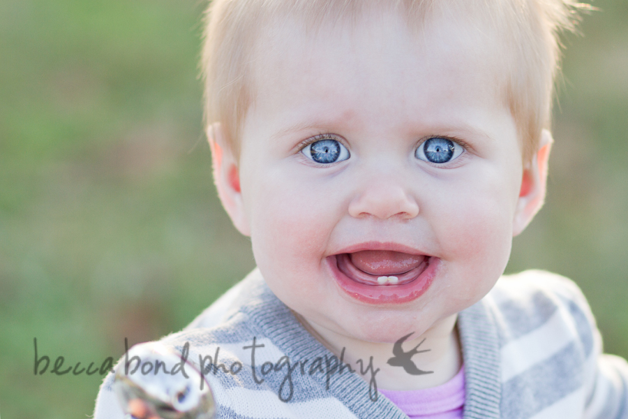 toothy baby smiles for Charlotte NC photographer