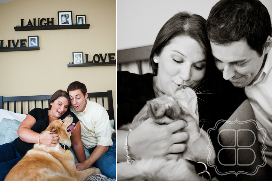 Photo session with dog by Charlotte Maternity photographer