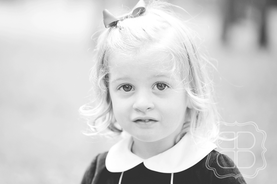 Child portrait in black and white
